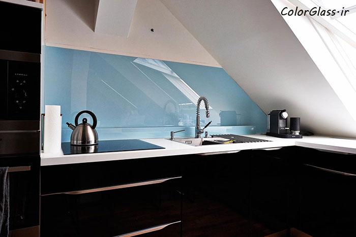 شیشه رنگی (لاکوبل) آبی پاستیلی