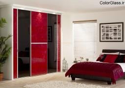 شیشه رنگی قرمز تیره