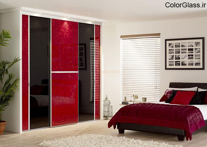 شیشه رنگی (لاکوبل) قرمز تیره
