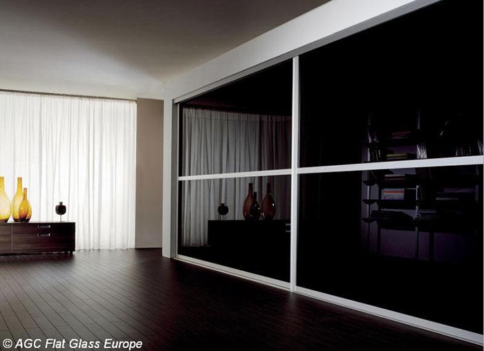 شیشه دکوراتیو،آینه رنگی