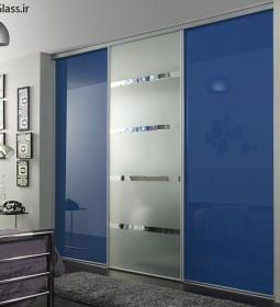 شیشه رنگی آبی روشن