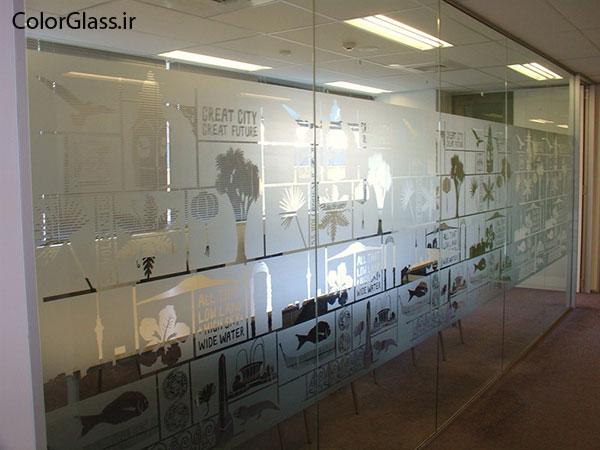 شیشه سندبلاست،sandblast glass