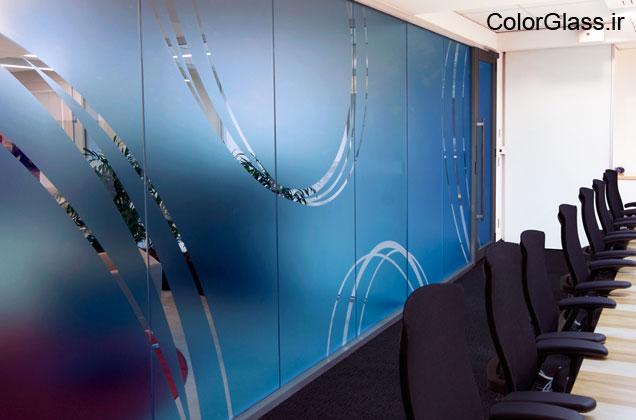 شیشه چاپی برای دفتر کار