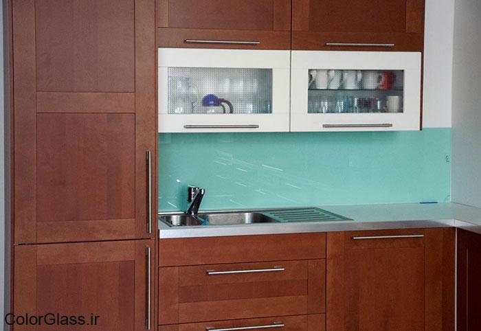 شیشه رنگی،لاکوبل،شیشه رنگی سبز پاستیلی
