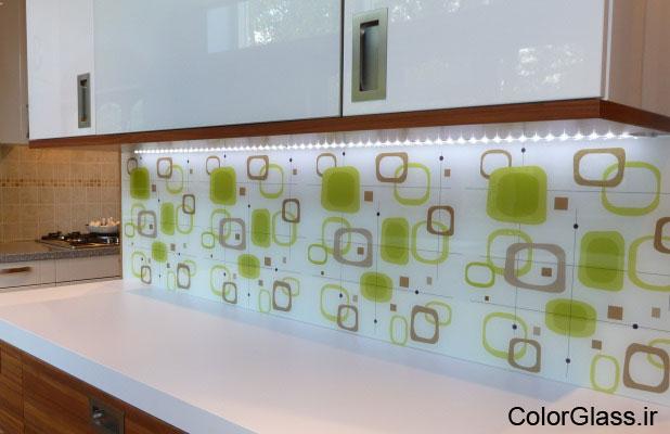 شیشه چاپی،شیشه چاپی آشپزخانه،چاپ روی شیشه