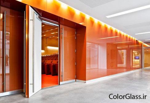 شیشه رنگی،لاکویل،شیشه رنگی نارنجی