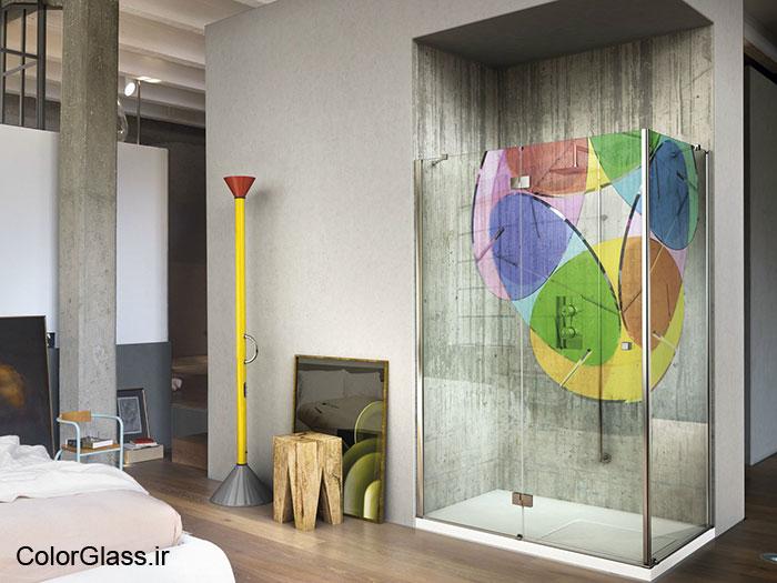شیشه چاپی برای حمام
