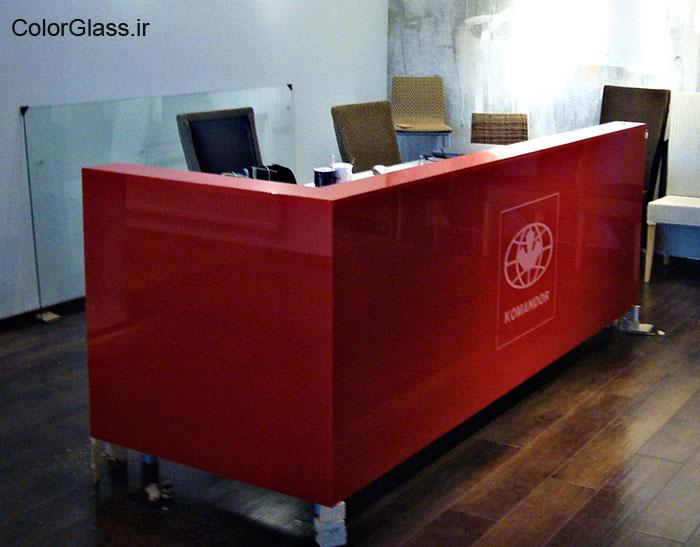 شیشه رنگی،لاکوبل،شیشه رنگی قرمز