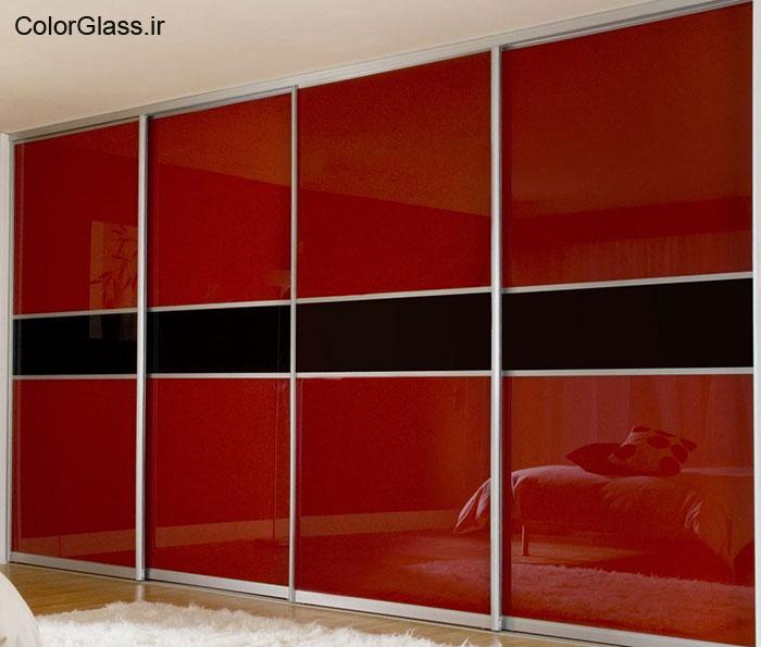 شیشه رنگی،لاکوبل،شیشه رنگی قرمز تیره